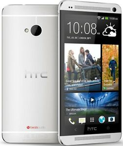 HTC-One-M7-6500L-Verizon-Unlocked-32GB-4G-LTE-Android-Smart-Phone-Silver-Great