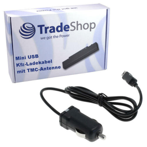 Premium Kfz-câble chargeur avec antenne TMC pour Navigon 72 Easy Plus Plus Premium Live