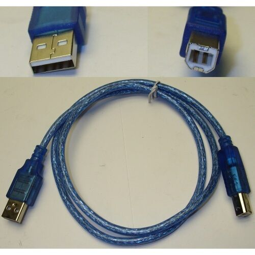 3ft short USB 2.0 A~B AB Printer//Device//Scanner//Hub Cable//Cord//Wire $SHdis {BLUE