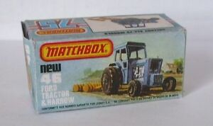 Repro Box Matchbox Superfast Nr.46 Ford Tractor and Har