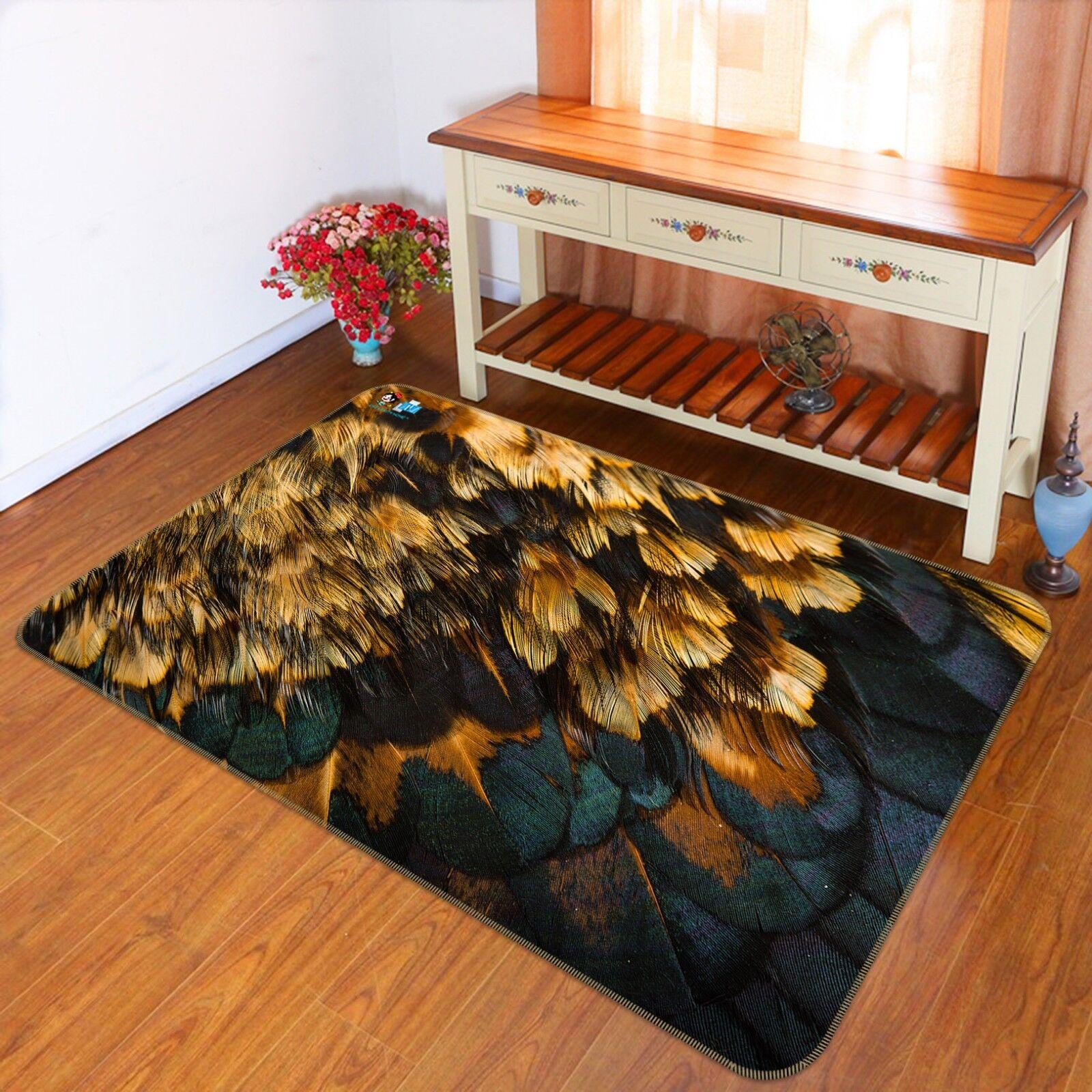 3D animal plumas 6 alfombra antideslizante alfombra Mat Alfombra de foto de calidad de habitación elegante Reino Unido