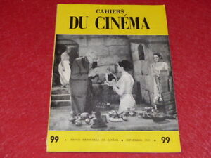 REVUE-LES-CAHIERS-DU-CINEMA-N-99-SEPT-1959-G-FRITZ-LANG-EO-1rst-Print