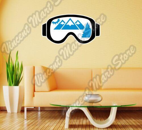 """Gafas de Esquí Snowboard Snowboard Pared Adhesivo Decoración Interior De Habitación 25/""""X16/"""""""