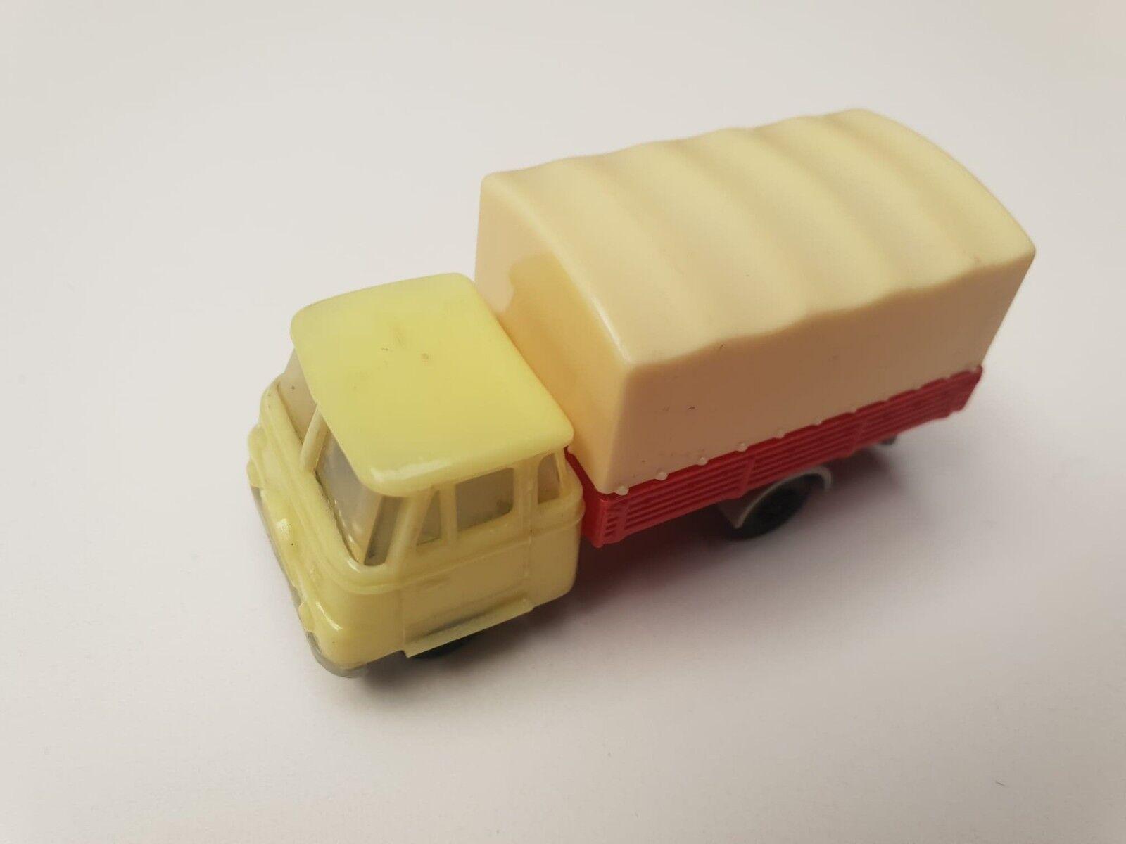 Vintage PL 1 87 RUCH Robur L2500 pritsche plane 1970 plastic amarillo rojo PRL