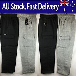 Men's Cargo Fleece Workwear, Comfy Work Pants, Tracksuit Pant, Warm Track Pant.