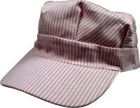 Hickory Striped Railroad Hat - Adult - Womens - Pink [ht03-2]