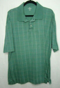 Men-039-s-Dockers-GOLF-Shirt-Size-XL-Polo-Plaid-Tan-Black-Green-Short-Sleeve