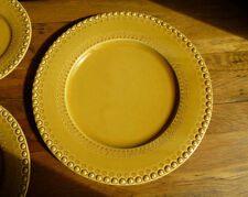 CE Corey Fantasia Bordallo (2) Dinner Plates Honey beaded edge dinnerware, new