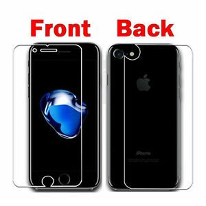 superior quality e6082 fa21f Details about FRONT AND BACK Soft Plastic Screen Protector Guard for iPhone  8 7 6S Plus SE X
