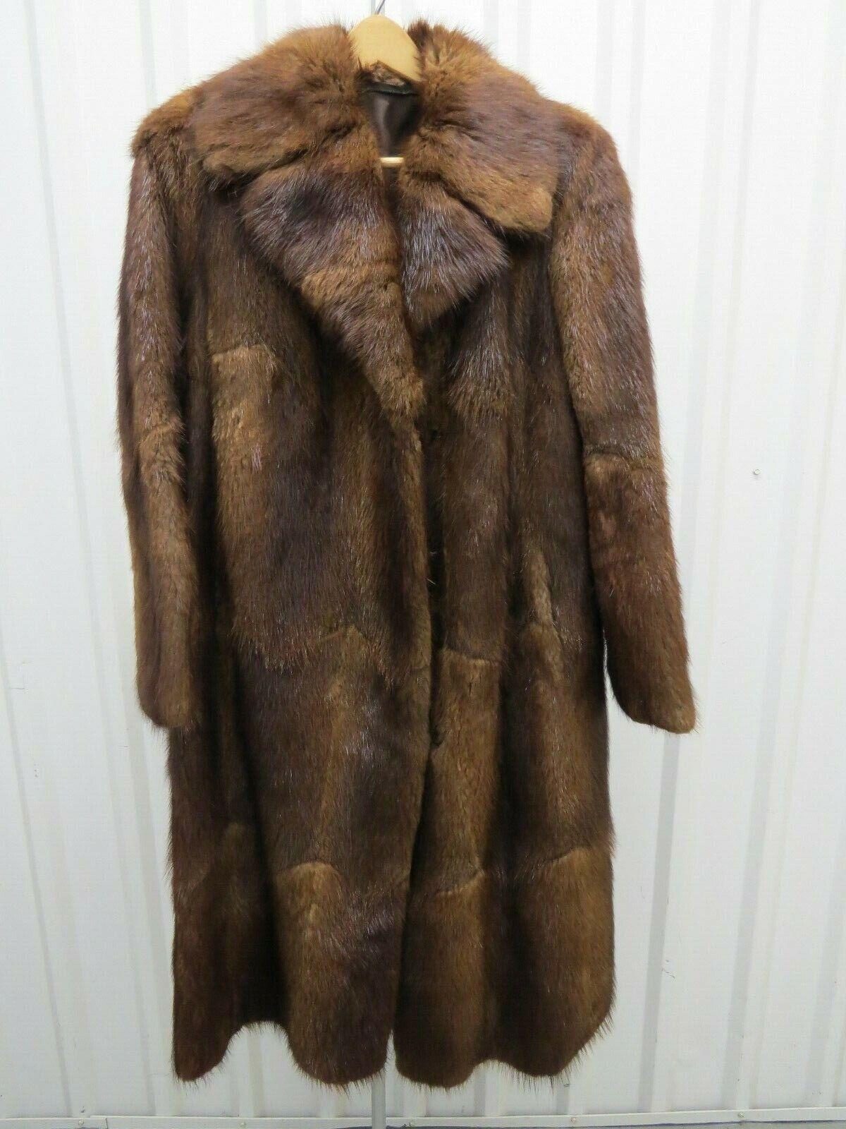 """Vintage sin marca original  de piel de visón abrigo señoras 44.5"""" De Alto  a la venta"""