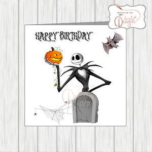 Tremendous Nightmare Before Christmas Birthday Card Jack Amp Pumpkin Funny Birthday Cards Online Ioscodamsfinfo