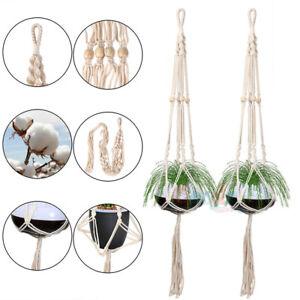 2x-Plant-Hanger-Flower-Pot-Plant-Holder-Large-4-Legs-Hemp-Rope-Hanging-Basket-44