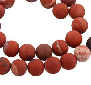 45-Matt-Jaspis-Rot-Edelsteine-Perlen-8mm-Natur-Schmuckherstellung-A-Grade-G766-3