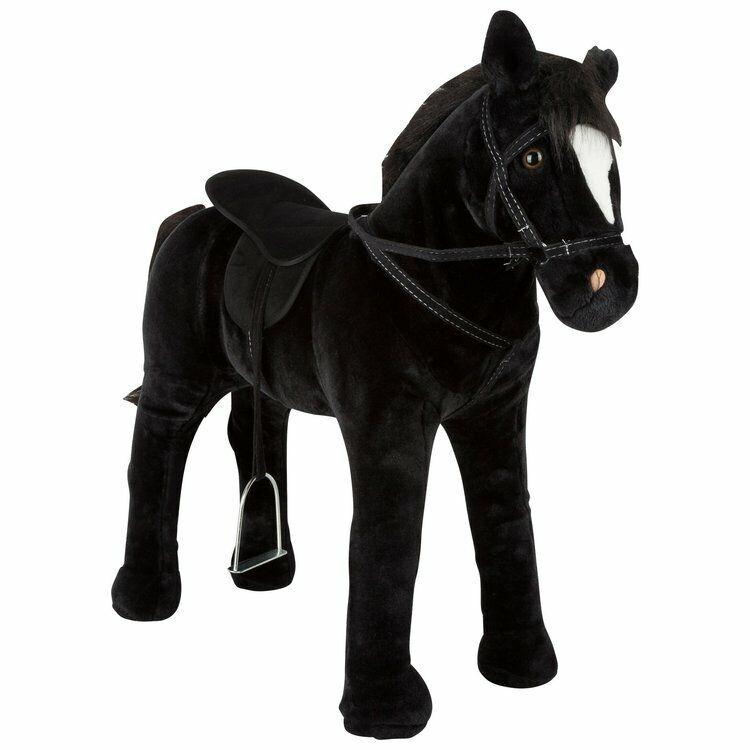 Cavallo giocattolo da cavalcare con suono, negro