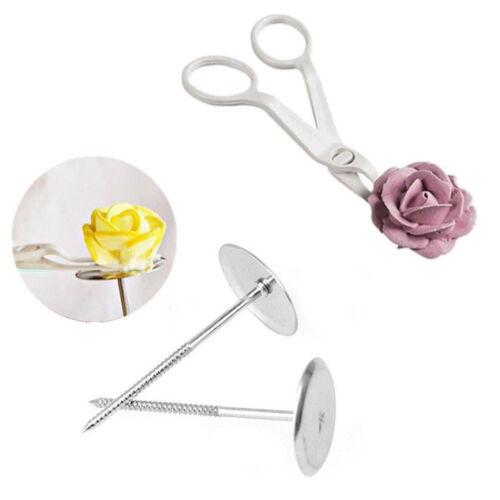 3Pcs Piping Fleur Ciseaux Clou Glaçage Pâtisserie Décoration Gâteau Cupcake Pâtisserie Outils