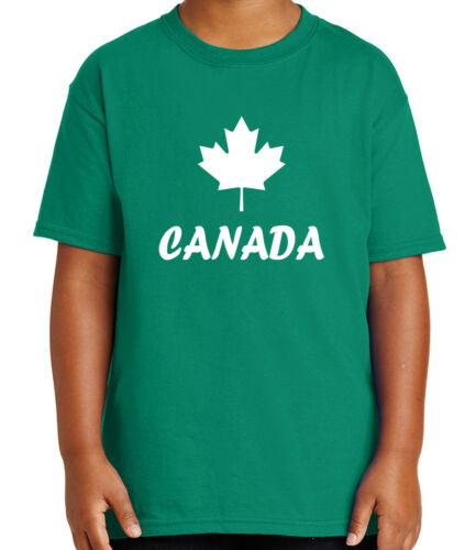 1558C Canadian Symbol Kid/'s T-shirt Maple Leaf Forever Tee for Youth