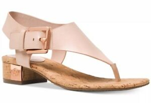 985092cfcaad New Michael Kors London Thong Sandals leather T Strap soft Pink ...