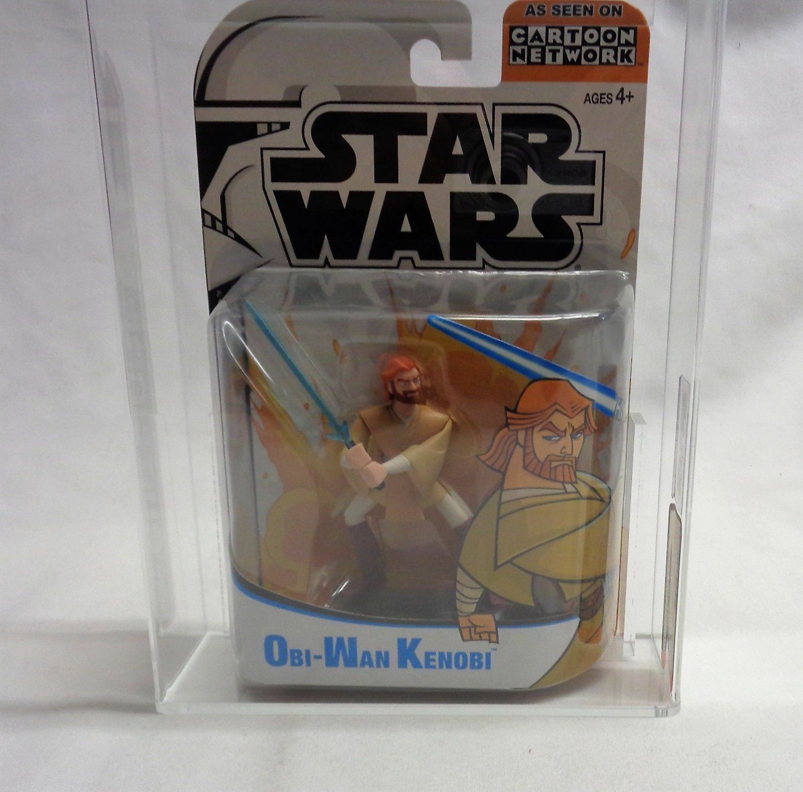 2004 Star Wars The Clone Ben Wars Animated Series Ben Clone Obi-Wan Kenobi Figure AFA 8.5 52b143