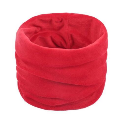 Winter Velvet Neck Warmer Gaiter Thermal Solid Color Circle Loop Scarf Face Mask