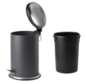 Details zu IKEA MJÖSA Mülleimer Treteimer GRAU 12L, 30L Badeimer  Abfalleimer WC Mjosa Eimer