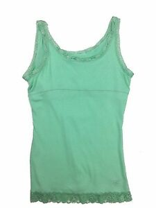 NEW-Justice-girls-size-18-sparkly-lace-sea-green-trim-tank-top