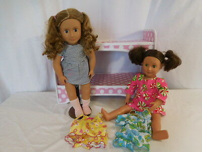 Our Generation Double Doll Travel Case Bunk Bed