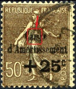 FRANCE-N-267-Oblitere-Variete-034-SANS-POINT-SUR-LE-i-DE-CAISSE-034