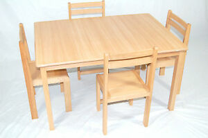 Image Is Loading Kids Wooden Table And Chairs Classroom Chairs Classroom