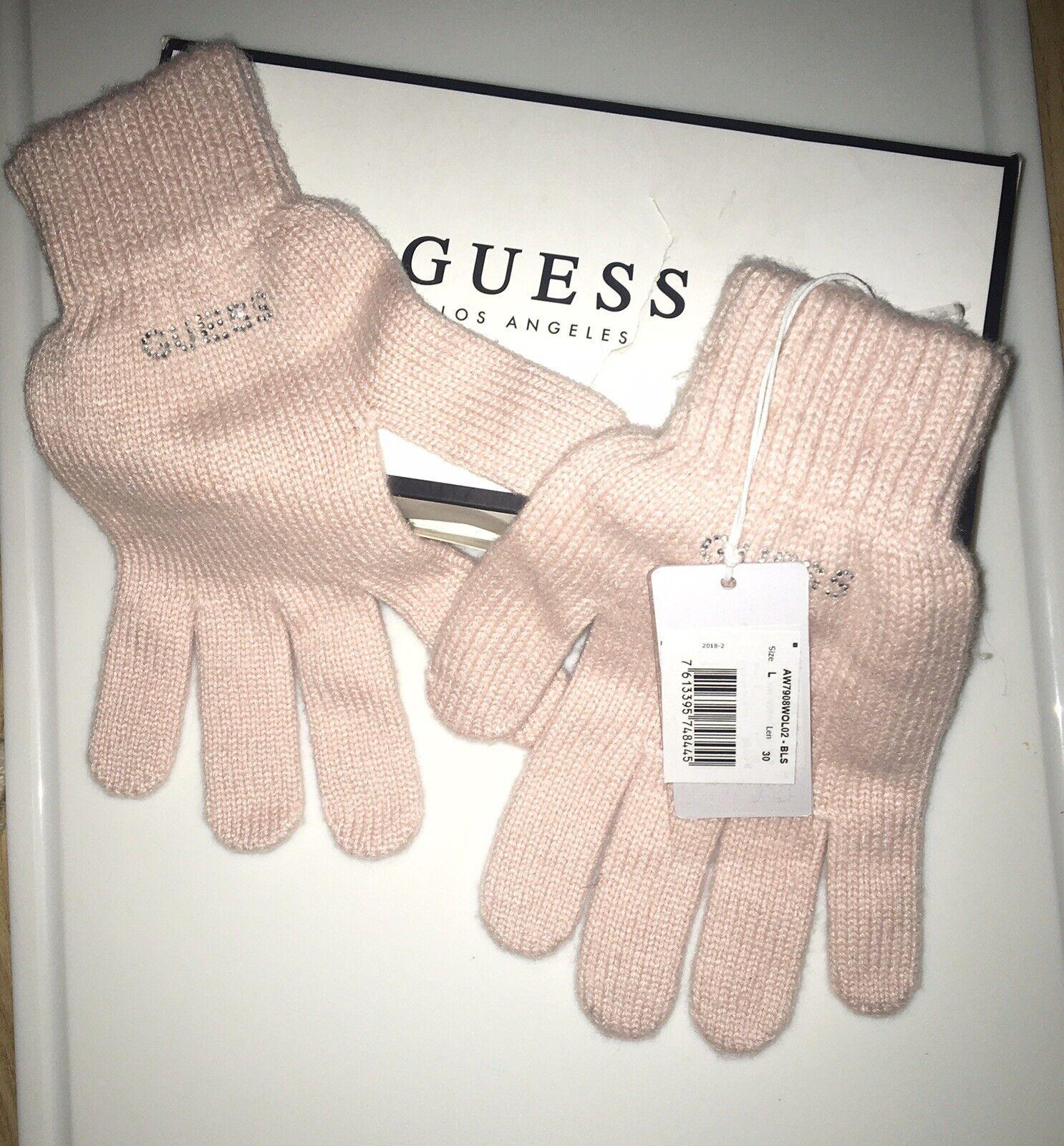 ** GUESS rose femme gants ** taille L Boxed Entièrement neuf dans sa boîte-Parfait Pour Noël