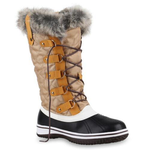 Warm Gefütterte Damen Stiefel Winterstiefel Snow Boots Waterproof 814080 Schuhe