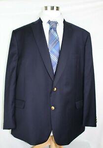 Ralph-Ralph-Lauren-Men-s-Navy-Sport-Coat-Jacket-Blazer-Gold-Buttons-54R-100-Wool