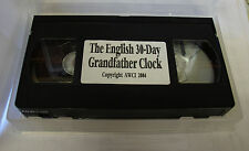The English 30-Day Grandfather Clock Repair Video - AWCI (VHS) (C-371)