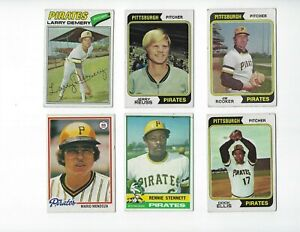 1970-039-s-Pittsburg-Pirates-lot-of-11-cards-VG-EX-to-NM