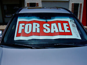 """8 pack of """"Signshades"""" giant For Sale signs for Cars"""