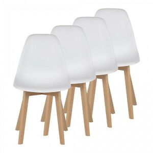 Chaise-de-Design-Siege-de-Bureau-Salon-Retro-Rembourree-Scandinave-Pieds-bois