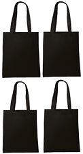 Lot 10 Tote Bag Reusable Black Shopping Grocery Travel Cheap Bulk Wholesale NEW