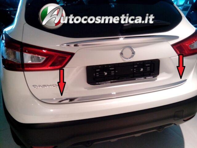 profilo cornice acciaio cromo Baule  portabagagli Nissan Qashqai 14-17