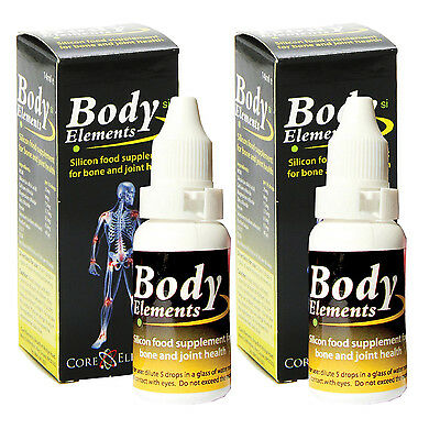 body elements silicon liquid food supplement for joints silicic acid 2 x 25ml