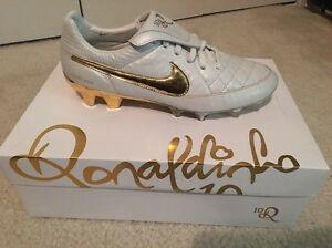buy online 0ab58 8e33f Details about Nike Tiempo Legend V R10 Ronaldinho Touch Of Gold Limited  Edition Soccer Shoes