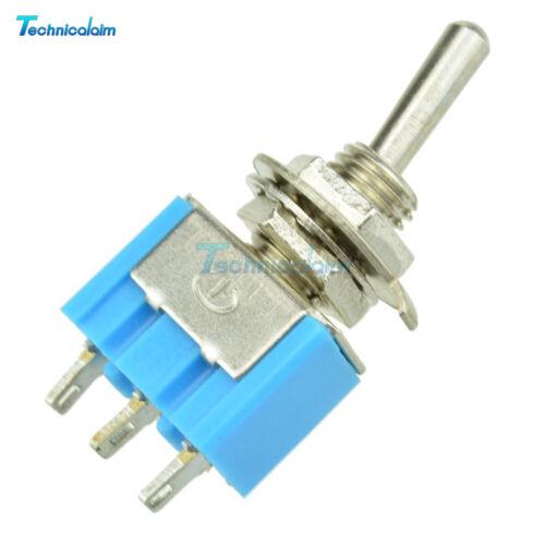 2PCS 3Pin 6A 125V AC SPDT MTS-102 SPDT ON-ON  Mini Toggle Switch