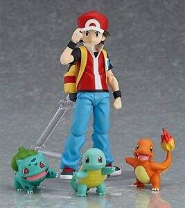 figma Pokemon Red action Figure Squirtle Charmander Bulbasaur Anime