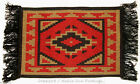 "Woven Placemat Table Mat Native American / Southwestern Fringed 13x19"" design #3"
