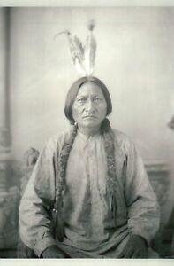 Lakota Indian Chiefs /& Buffalo Bill Cody Tipi Native American History Postcard