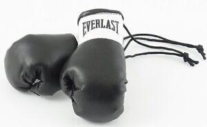Everlast Black Mini Boxing Gloves for Autograph Hunters