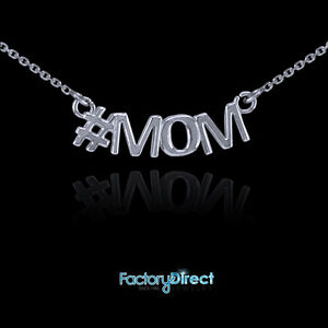 #MOM 14k White Gold Necklace