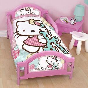 Hello Kitty Stitch Panel Junior Toddler Cot Bed Duvet
