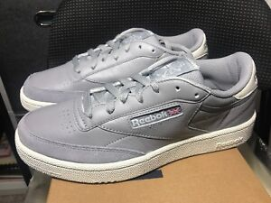 Details about New Reebok Club C 85 MU Mens Classic Shoes Sneakers Tin Grey Chalk CN3438 Size 8