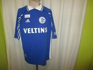 Fc-shalke-04-original-adidas-hogar-camiseta-1998-99-034-Veltins-034-talla-XL-Top