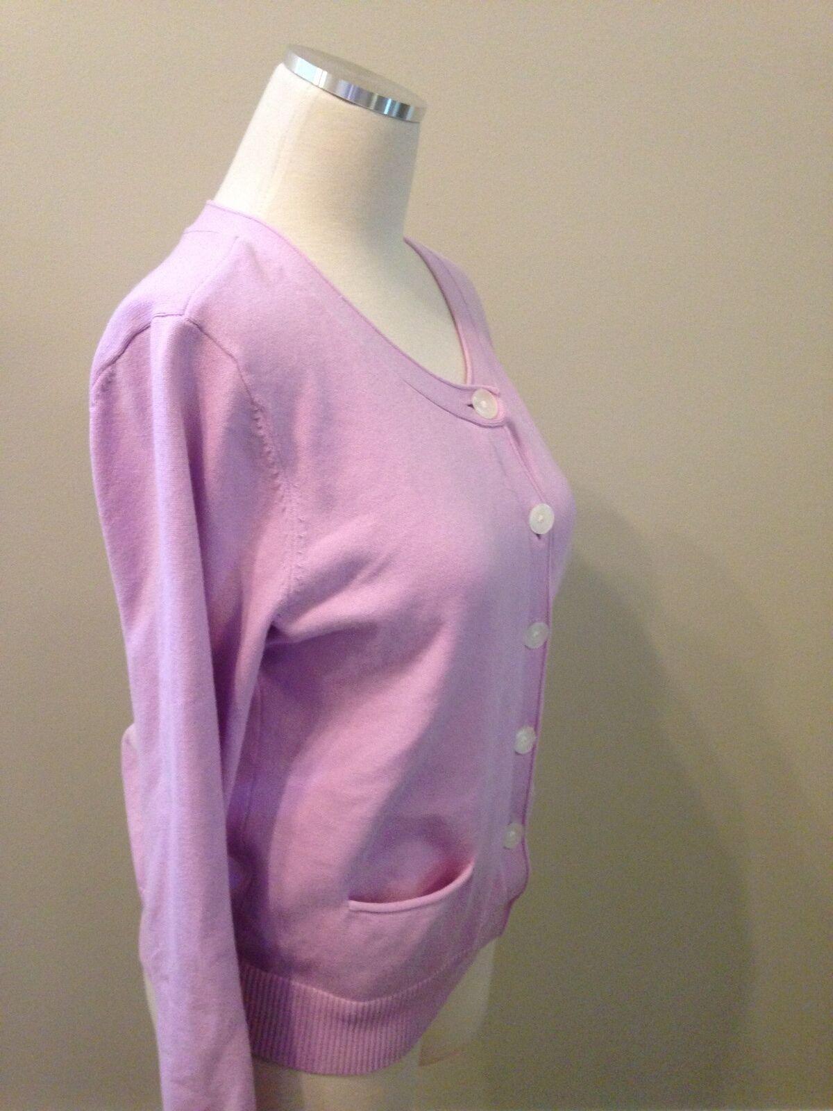 J. Jill Lilac Purple Pocket Cardigan Sweater Medi… - image 3