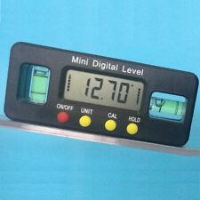 Lcd Digital Inclinometer Level Box Protractor Angle Finder Bevel Gauge Magnetic